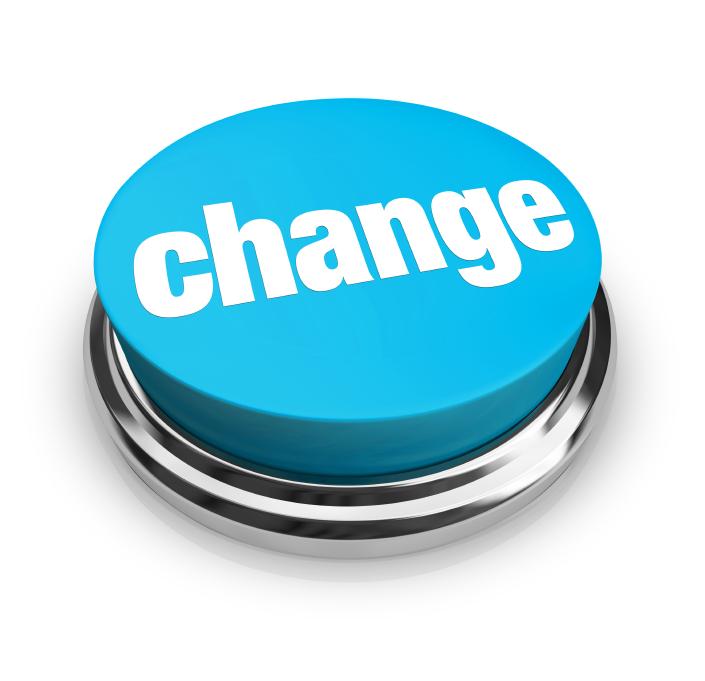 Change - Blue Button